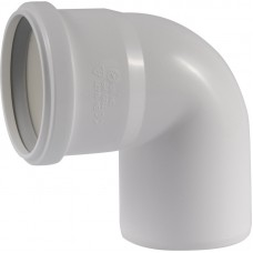 Ubbink  Rolux rookgasafvoer PP bocht 80  wit -0123060
