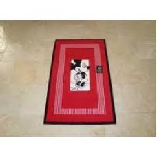 Aquanova Fun Mickey 50 badmat rood 60 cm. x 100cm.
