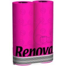Renova rose toiletpapier  6 stuks per pak