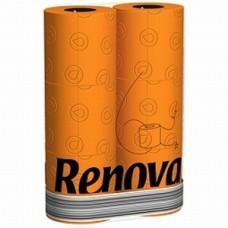 Renova oranje toiletpapier  6 stuks per pak