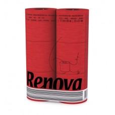 Renova rood toiletpapier  6 stuks per pak