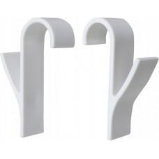 Wenko haken set van 2 voor radiator kunstof wit