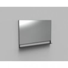 Arcqua Reflect spiegel met planchet aluminium mat zwart
