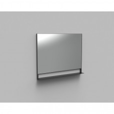Arcqua Reflect spiegel met planchet 100x80cm mat zwart