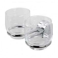 Geesa Argos dubbele glashouder chroom - 8013-02