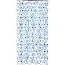 Sealskin Triangles douchegordijn blauw/wit 180 x 200 cm.