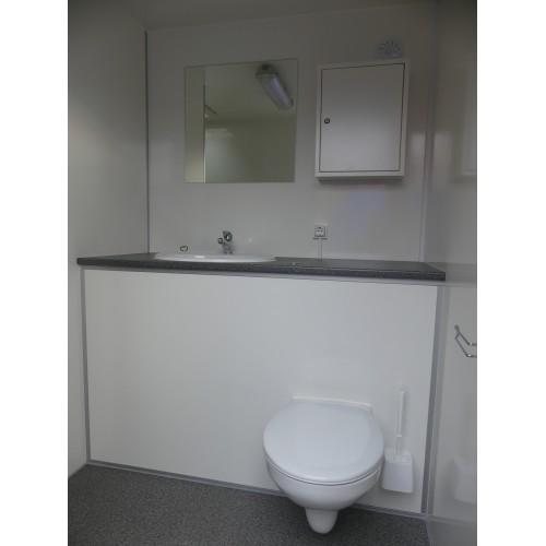 Mobiele badkamer: douche, toilet, wastafel