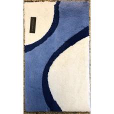 Aquanova Finesse badmat blauw/wit 60 x 100 cm. - FINBMM71