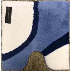 Aquanova Finesse badmat wit/blauw 60 x 60 cm. -FINBMW71